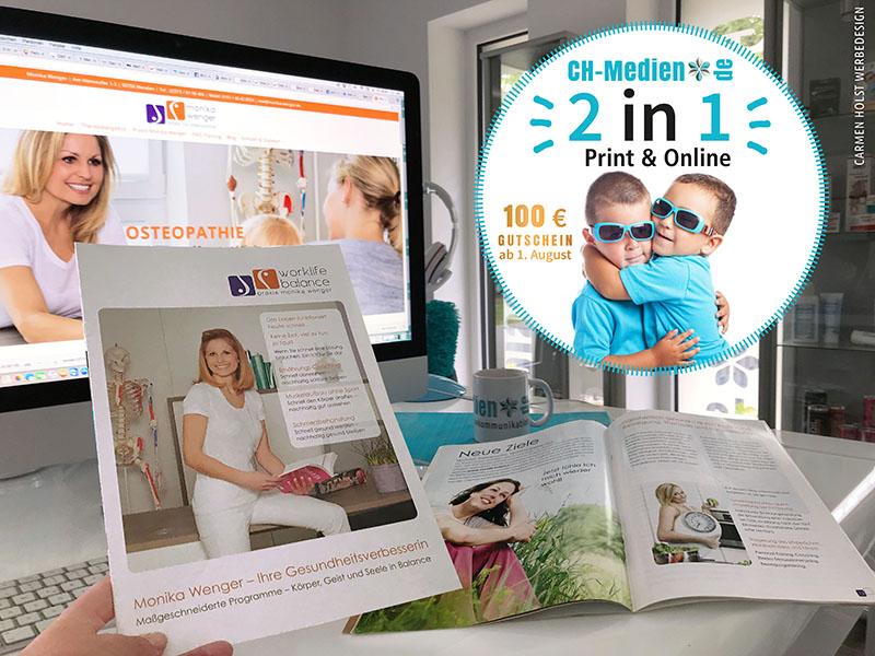 2 in 1 Print und Online